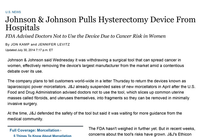 Johnson-&-Johnson-Pulls-Hysterectomy-Device-From-Hospitals---WSJ-1